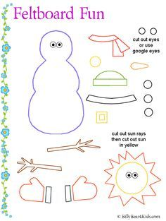 make a Snowman for felt board - I could replace the felt Christmas tree in the hall with a snowman for the rest of the winter.