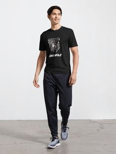 """""""Lone Wolf"""" Active T-Shirt by Joshua1870   Redbubble Neon Rainbow, Rainbow Heels, Cute Ghost, Short Sleeve Hoodie, Novelty Shirts, Muscle Shirts, Keep Calm And Drink, Female Models, Funny Tshirts"""