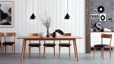 Retro Oak Dining Table | Domayne