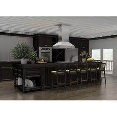 "ZLINE Kitchen and Bath 60"" 1200 CFM Ducted Island Range Hood"