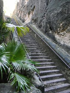 The Queen's Staircase is a landmark in Nassau, Bahamas