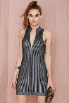 Nasty Gal Fool for the City Ribbed Dress - Dresses