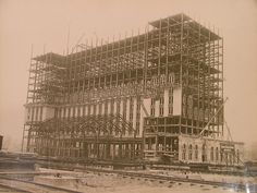 Michigan Central Station construction 1912