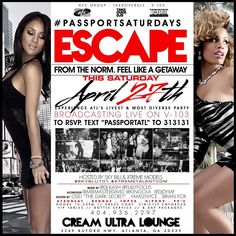 #DimeDivaPromotions #PassportSaturdays at Cream Ultra Lounge RSVP #PassportSaturdays text 4049145292