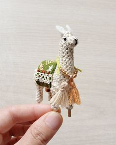 Mini Crochet Llama PDF Pattern - amigurumi pattern for tiny dollhouse, alpaca llama gifts, crochet pdf pattern, dollhouse miniatures Embroidery Thread, Embroidery Patterns, Crochet Patterns, Diy Crochet, Crochet Hooks, Cute Desk Accessories, Llama Gifts, Back Stitch, Arm Knitting