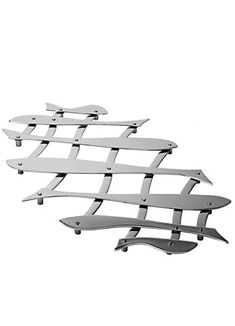 Pescher Trivet - Alessi: Polished stainless steel, like shining fish, expandable