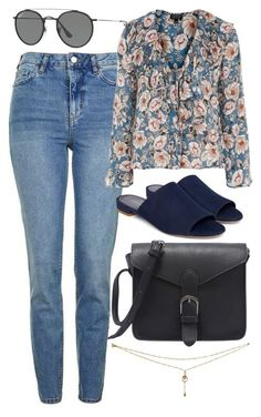 """""""Untitled #6124"""" by rachellouisewilliamson on Polyvore featuring Topshop and Ray-Ban"""
