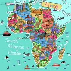Buy Africa Map by artisticco on GraphicRiver. A vector illustration of Africa map in cartoon style. Vector illustration, zip archive contain eps 10 and high resolu. South Africa Map, World Map Africa, West Africa, Map Vector, Illustration, Leonid Afremov Paintings, Sierra Leone, Cartoon Styles, Graphic Art
