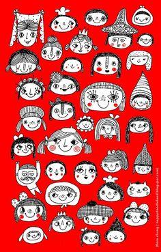 Hobby Ideen Frauen - - Hobby Horse Augen - Hobby Lobby Beads - Hobby To Try For Men - People Illustration, Illustration Sketches, Illustrations, Character Illustration, Drawing Sketches, Drawings, Motifs Textiles, Whimsical Art, Doodle Art