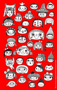 Hobby Ideen Frauen - - Hobby Horse Augen - Hobby Lobby Beads - Hobby To Try For Men - People Illustration, Illustration Sketches, Illustrations, Character Illustration, Motifs Textiles, Doodles Zentangles, Whimsical Art, Face Art, Doodle Art