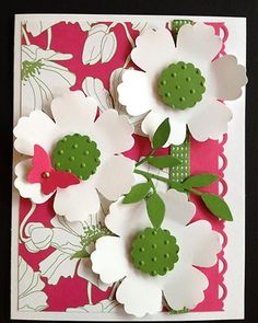 Card Kit- Blossom and Butterfly Melon Mambo set All Occasion w/ Stampin Up prod