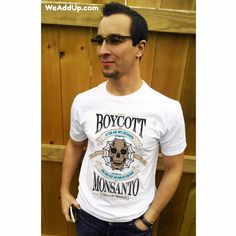 "Will you Boycott Monsanto with us??? Get this shirt at WeAddUp.com (type ""boycott"" in the search box to find it). #marchagainstmonsanto  #monsantosucks  #stopmonsanto  #fuckmonsanto  #labelgmos  #boycottmonsanto  #monsantokills  #glyphosatekills  #nongmo  #occupywallstreet  #ecofriendlyfashion  #climatechangeisreal  #organic  #organicfood  #organiccotton  #organicliving  #organiclife  #organicgarden  #organicgardening  #organicfarming  #gmofree  #nogmo  #nogmos  #occupy  #bees #savethebees"