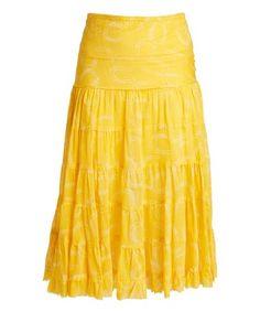 Yellow Horseshoe Skirt #zulilyfinds