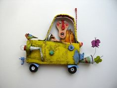 Gerard Collas singular taxi -sculpteur-assembly-art