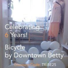 We're celebrating 6 years of Bicycle by Downtown Betty.  25% Off ~ Come by the studio, or shop online w/ Discount Code: TRIBE25 until June 26th.   #bicyclebydowntownbetty #sixyears #anniversary #sale #balsambeachstudio #celebration #solstice #lovelife www.downtownbetty.com  (at www.downtownbetty.com)