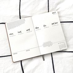 Bullet journal weekly layout, grid drawing, monochromatic layout. @inkbyjeng