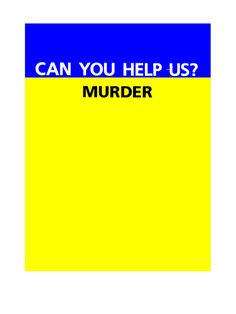 Can you help us murder?