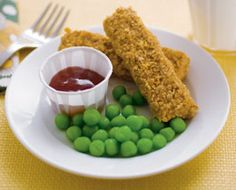 faux fish sticks & peas. really cookies & taffy.