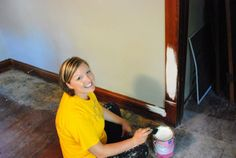 Kim painting our house