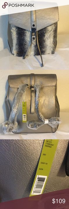 "NWT Gianni Bini Backpack NWT Gianni Bini furry backpack in perfect condition! This backpack still has the original wrapping and tags with lots of space inside, the top closes with a pull string and magnetic button. Measurements are 13.5"" x 11.5"", open to offers! Gianni Bini Bags Backpacks"