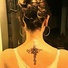 Cross #tattoo with Star of David as center