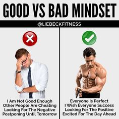 """Julian Liebeck Fitness di Instagram """"""""Good VS Bad Mindset"""" by @liebeckfitness - A great mindset is absolutely necessary to succeed in any endeavor. People will love you for it…"""" Not Good Enough, Other People, Mindset, Wish, Love You, Success, Positivity, Fitness, Instagram"""