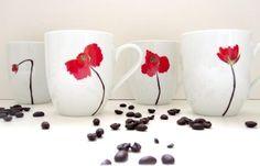 handpainted mugs (bridesmaid gifts)