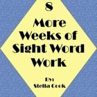 Here is another 8 weeks of sight word work packet.  This packet can be used in class as daily work or can be sent home for homework as a weekly pac...