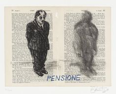 William Kentridge 'Pensione', 1999 © William Kentridge, From Untitled (Baedecker Portfolio) Museum Of Contemporary Art, Contemporary Artists, Joseph Mallord William Turner, Tate Britain, South African Artists, Italian Art, Travel And Tourism, Figure Drawing, Drawing Board