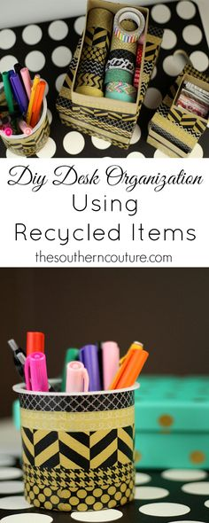 Come find out what you have been throwing away all these years but could have been using on your desk at thesoutherncouture.com. You won't believe how easy and cute your desk can now look.
