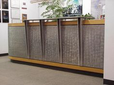 reception desk with metal front - Google Search