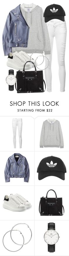 """""""Untitled #21171"""" by florencia95 ❤ liked on Polyvore featuring Frame, Zoe Karssen, Acne Studios, Topshop, Alexander McQueen, Balenciaga, Melissa Odabash and Daniel Wellington"""