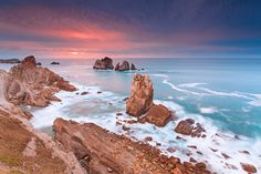 Sunset @ Los Urros de Liencres - Cantabria (Spain) by Eric Rousset