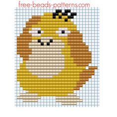 Iron beads pattern Pokemon 054 Psyduck