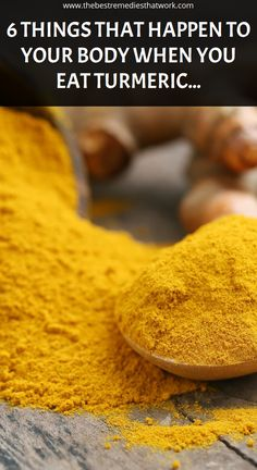 6 Things That Happen To Your Body When You Eat Turmeric Every Day – The Best Remedies That Work Home Health Remedies, Natural Health Remedies, Herbal Remedies, Turmeric Health Benefits, Natural Health Tips, Health Matters, Natural Herbs, Herbal Medicine, Organic Recipes
