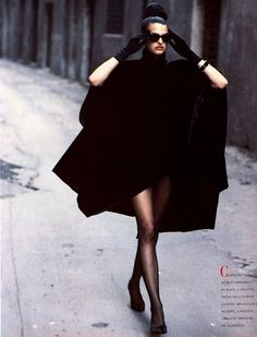 Roma - Vogue Italia, September 1988   ph. Peter Lindbergh   Model: Linda Evangelista