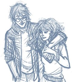 Decided to draw something with Harry and Hermione. They're not a couple…