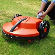 Robotic lawn mowers run on batteries, they burn no gas or oil It is estimated that it costs only 7 00 a year in electricity to mow all season long Lawn Mower Sale, Battery Powered Lawn Mower, Engin, Heat Exchanger, Lawn Care, Sales And Marketing, Working Area, Control, Outdoor Power Equipment