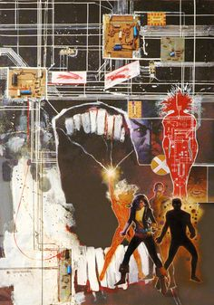 The New Mutants by Bill Sienkiewicz in an iconic poster published by Marvel Press Comic Book Artists, Comic Book Characters, Marvel Characters, Comic Artist, Comic Books Art, X Men, The New Mutants, Forever Book, Comic Kunst