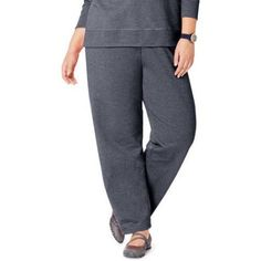 Just My Size Women's Plus Size Fleece Petite Sweatpant, up to size 5X, Size: 1XL, Gray
