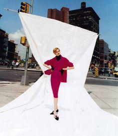 Patrick Demarchelier for Harper's Bazaar, September 1995. Clothing by Chanel.