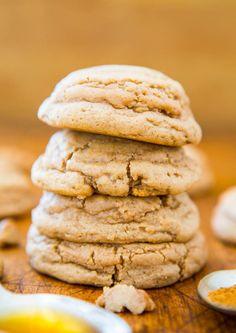 Soft & Puffy Pumpkin Spice Honey Cookies (not cakey!) - Easy recipe at averiecooks.com