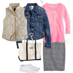 """""""Pink , navy & warm bisque"""" by maomi on Polyvore"""