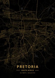 """Beautiful """"Pretoria South Africa"""" metal poster created by Designer Map Art. Our Displate metal prints will make your walls awesome. South Africa Map, Poster Prints, Art Prints, Pretoria, City Maps, Wood Patterns, Poster Making, Map Art, Aerial View"""