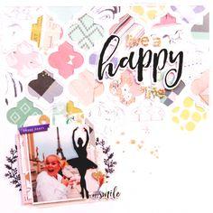 Happy Scrapbook Layout by Laureen Wagener for SCT Magazine