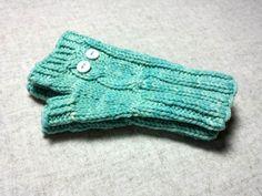 """Armstulpen """"Eule"""" türkis, für Kleinkinder, fingerlose Handschuhe, Schurwolle mit Synthetik, pflanzengefärbt von frostpfoetchen auf Etsy"""