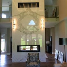 Floor To Ceiling Modern Gas Fireplace Designs Indoor Gas Fireplace, Fireplace Hearth, Home Fireplace, Modern Fireplace, Fireplace Design, Fireplaces, Fireplace Ideas, See Through Fireplace, Royal Look