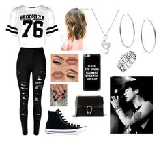 """""""What You Wear To Their Concert- Calum"""" by thatrandomnerdygirl on Polyvore featuring Boohoo, Converse, BERRICLE, Michael Kors, Casetify, Gucci and Bling Jewelry"""