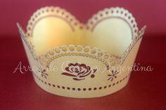 Wrapper para cupcake calado láser. Ideal para casamientos y quince años // Laser cut wrapper cupcake wedding