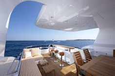Luxurious Exterior of the Heesen Super Yacht Life Saga - 42m Heesen motor yacht LIFE SAGA's interior makeover by Holland Jachtbouw
